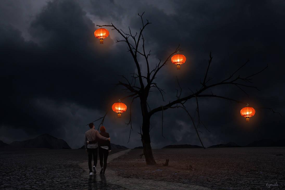 Lumieres dans la nuit by Eymele