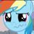 Rainbow Dash Crying icon
