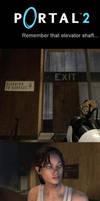Portal 2 - that elevator shaft by Zareste