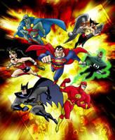 justice league - colorisation by arzatoth