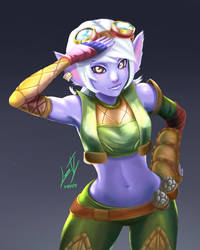 Tristana in human size - LoL by Luran-V
