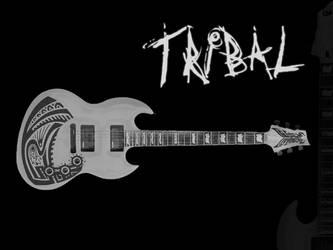 Tribal MK Custom Guitar by masterkey