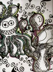 The Octupus and Mushroom by MomoJunko