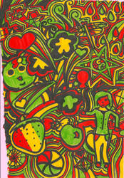 Rasta Doodle by MomoJunko