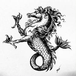 Seahorse - Greek Mythology by YasminGZ