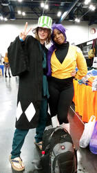 Comicpalooza 2015 - Yoruichi and Urahara cosplay by Imperius-Rex
