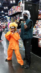 Comicpalooza 2015 - Naruto and Kakashi cosplay by Imperius-Rex