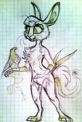 Anthro 'Nouk by QueenChinchilla187