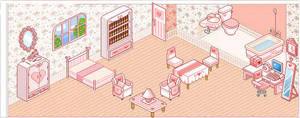 Pink pixel room by Blackrosenaruto