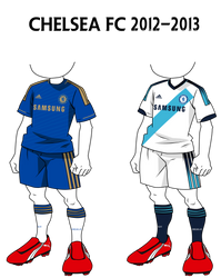 InazumaEleven Kits: Chelsea FC 12-13 by jeanpaul007