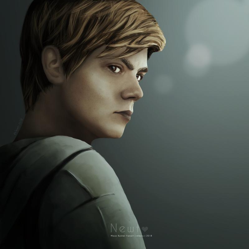 Newt - The Maze Runner (Fanart) by Yraine