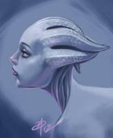 Liara - Blue romance by polarityplus