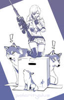 MGS - Sniper wolf by polarityplus