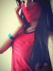 Crimson Akali WIP Cosplay by CrazyDebil