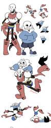 Goofy Skelebros by YAMsgarden