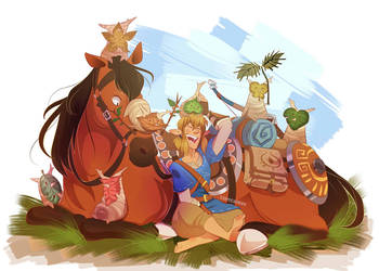 Link and the Koroks by YAMsgarden