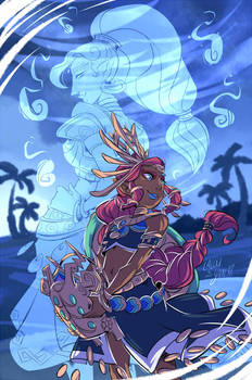 COLLAB Lalou: Urbosa and Riju by YAMsgarden