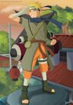 The ninja of Konoha, Uzumaki Naruto - FanArt by Melonciutus