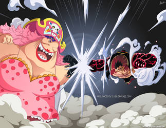 One Piece 871 - Luffy vs Big Mom by Melonciutus