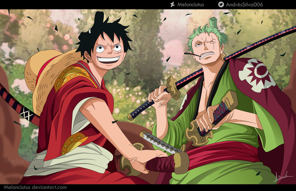 One Piece 912 - Luffy and Zoro by Melonciutus