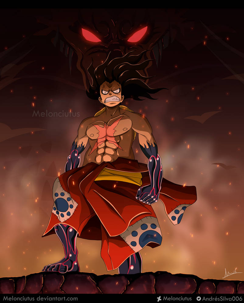 One Piece - FanArt - Monkey D. Luffy (Wano) by Melonciutus