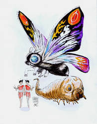Mothra by IndecisiveDevice