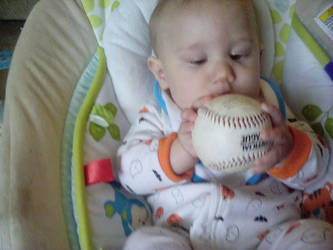 my son with a baseball by Beautifuldante89