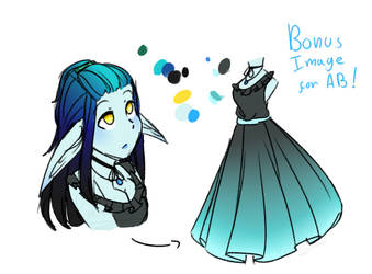 Blue Elf Girl - {Adoptions #31} [CLOSED] by NykaWolfs