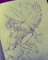 Hovering Angel by NesoKaiyoH