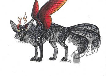 Fire Kitsune by Resennar