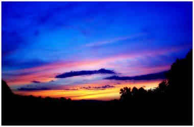 A Blue Sundown by MelissaGriffin