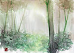Watercolor - forest by Noweria