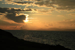 Sunset on a cliff by TINKTINKTINKK