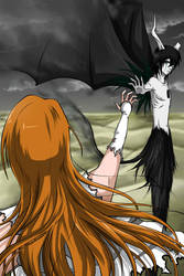 Ulquiorra and Orihime by Ainozomi