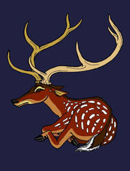 The Stag, Coloured Version by The-Darkwolf