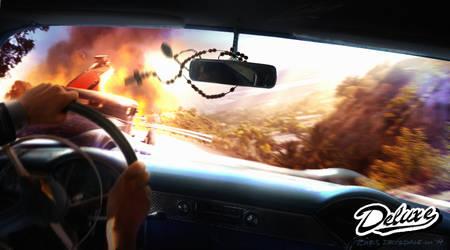 Deluxe: Hills Race crash by Spex84