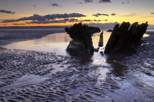 Berrow shipwreck by CharmingPhotography