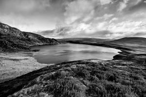 Llyn-Arenig-Fawr in Mono by CharmingPhotography