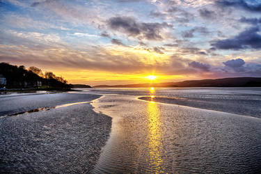 Sunset over Arnside by CharmingPhotography