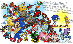 Happy 19th Birthday SONIC by groundzeroace