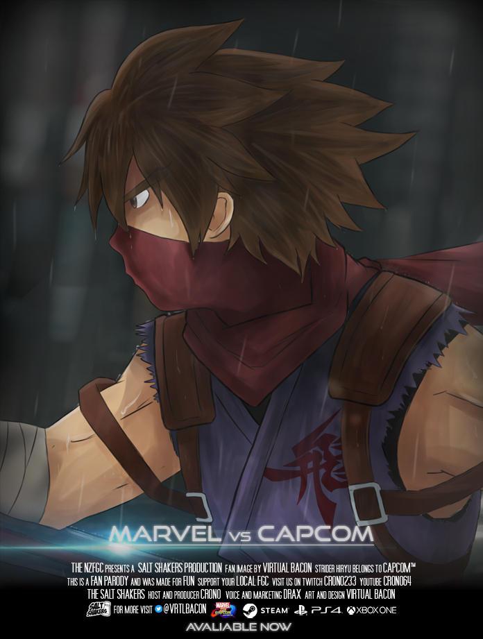 Marvel vs Capcom: Hiryu by groundzeroace
