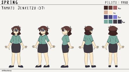 Model Sheet Yamato Test  by Okusheny