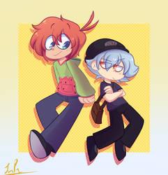 Haru and Melon by Okusheny
