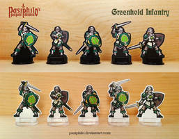 Greenhold Infantry 28mm Paper Miniatures by Pasiphilo