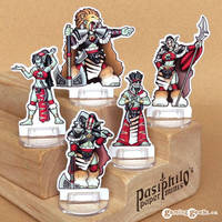 Red Clan Orc Leadership 28mm Paper Miniatures by Pasiphilo