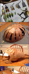 Leaf Man Helmet Creation Process by Pasiphilo