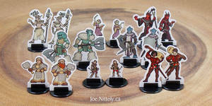 Player Character Minis Preview by Pasiphilo