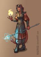 Shanti, Tiefling Warlock by Pasiphilo