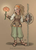 Halfling Druid (Commission) by Pasiphilo