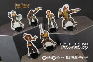 Cyberpunk-Fantasy Gangers by Pasiphilo
